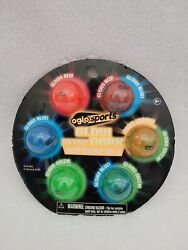 GLOW IN THE DARK MEGA BOUNCE BALLS SET OF 6 BY OGLO SPORTS BRAND NEW NICE GIFT $24.99