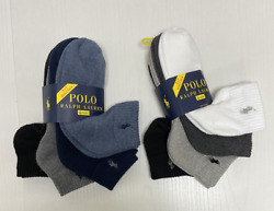 MENS POLO CLASSIC SPORT LOW CUSHIONED PLUS SOCKS 4 PAIR 8 SOCKS YOU PICK $19.96
