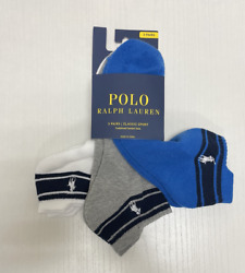 MENS POLO CLASSIC SPORT ANKLE CUSHIONED PLUS SOCKS 3 PAIR 8 SOCKS FITS 6 12 $19.96