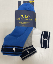 MENS POLO CLASSIC SPORT ANKLE CUSHIONED PLUS SOCKS 3 PAIR 6 SOCKS FITS 6 12 $19.96