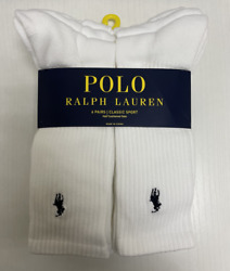 MENS POLO CLASSIC SPORT CREW CUSHIONED PLUS SOCKS 6 PAIR 12 SOCKS FITS 6 12 $26.36