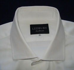 MEN#x27;S LEDBURY WHITE FORMAL SHIRT 16.5 42cm. SHIRTS DESIGNER SHIRTS.