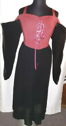 Rosegal brick red black goth butterfly sleeve maxi dress Plus size 4X $24.99