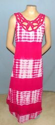 Awesome amp; Chic Jessica Taylor Maxi Length Pink Print Dress Plus Size 1X Club or $14.99