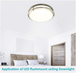 10 Inch LED Flush Mount Ceiling Light Fixture Dimmable Ceiling Lamps3000K $35.18