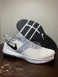 Size 12 Men#x27;s Nike Air Max Typha 2 Sneakers White Wolf Grey AO3020 100 $59.97