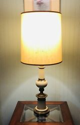 Vintage Stiffel Brass And Enamel Table Lamp $120.00