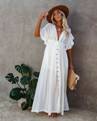 Casual Long Summer Dress amp; Coverup various colors $38.98