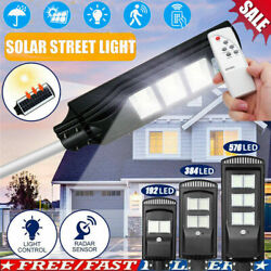 900W 576LED Solar LED Street Light Commercial Outdoor Area Security Road Lamp