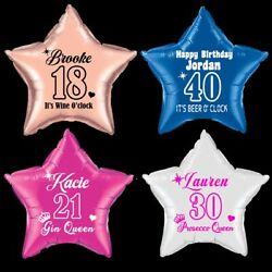 Foil Balloon 18inch Message Birthday Party Decoration Name Age novelty GBP 4.99