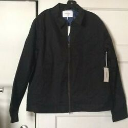 FRAME Slim Fit Jacket with Quilted Lining black lightweight $90.00