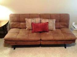 SLEEPER SOFA BED Suede Convertible Couch Modern Living Room Futon Loveseat $179.95