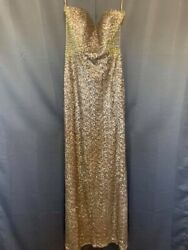 gold sequin dress long Prom Pageant