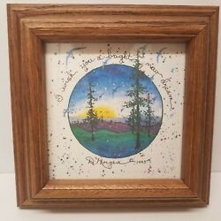 D. Morgan 1995 Framed Art Print quot;I Wish You A Bright New Dreamquot; 7.5quot; X 7.5quot; $16.95
