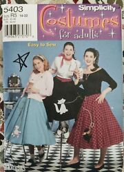Misses#x27; Poodle Skirts Costume Simplicity Sewing Pattern 5403 Size 14 22 $6.00