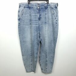 American Eagle Mom Jeans Women's Size 24 Long High Rise Lite Blue