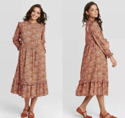 New With Tags Universal Thread Brown Floral Dress 572336 Size XS $18.00