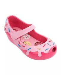 Mini Melissa Pink Mini Ultragirl Donut Shoes Sz 11 Made In Brazil $44.00
