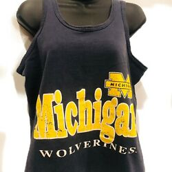 Vintage Single Stitch Michigan Wolverines College Tank Top Womens Size Medium