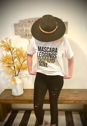 "NEW trendy ""Mascara Leggings Leopard Done"" leopard print Tshirt size S $18.00"