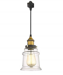 Kiven H Series Track Lighting Kitchen Pendant Light Clear Glass Shade Hanging $37.18