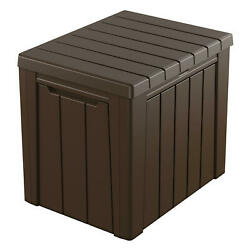Keter Urban 30 Gallon Outdoor Deck Box Storage Table $114.00