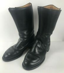 Vibram Chippewa Men#x27;s Size 10.5 EE Boots 27862 Black Motorcycle Odessa FLAW $79.97