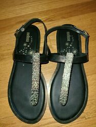 Melissa Womens Slim Sandal ii Black Sandals Size 10 $16.00
