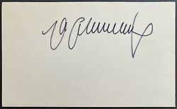 Autographed German World Heavyweight Champion Max Schmeling Index Card Signed $25.00
