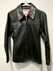 Vtg Wilsons Maxima Genuine Black Leather Jacket Sz Small FREE SAME DAY SHIPPING $29.99