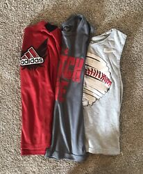 Boys Under Armour Nike And Adidas Shirts Set Of 3 Size Small