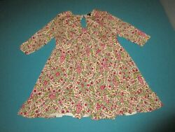 TORRID Womens Pink Green Floral Dress Size 1 1X $26.99