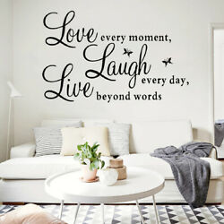 Live Laugh Love beyond words Wall Sticker Decoration Wall Decal black $6.91