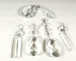 Vintage Chandelier Crystals Prisms Mixed Lot 5 Piece AS IS Parts $17.99