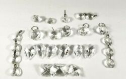 Vintage Chandelier Crystals Prisms Mixed Lot 20 Piece AS IS Parts $14.99