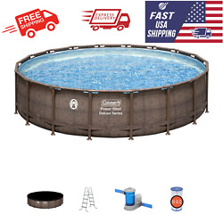 COLEMAN Power Steel 18#x27; x 48quot; Round Above Ground Swimming Pool Set W Pump $1149.95