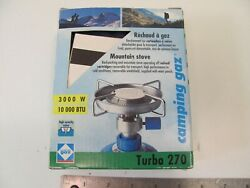 CAMPING GAZ HIKING STOVE TURBO 270 W CASE BACKPACKING 3 MIN BOIL $36.62