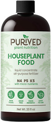 Purived Liquid Fertilizer for Indoor Plants 20oz Concentrate Makes 50 Gallon $36.97