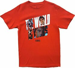 New Men#x27;s Scarface Movie The World Is Yours Vintage Retro 80s Red T Shirt Tee $16.99