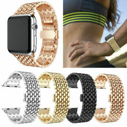 Stainless Steel Metal For Apple iWatch Band Series 654 3 2 1Strap Link Bracelet $12.99