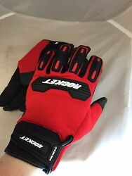 JOE ROCKET MENS VELOCITY 2.0 MESH RED MOTORCYCLE GLOVES 2XL TOUCH FINGER $12.99