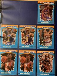 1990 Fleer Basketball All Star Set Lot $18.00