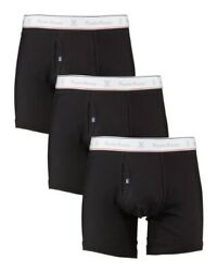 Psycho Bunny Mens Pack of 3 Boxer Brief cotton $38.00