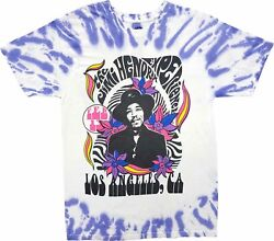 New Men#x27;s Jimi Hendrix Los Angeles CA Tie Dye Purple Retro Vintage T Shirt Tee $16.99