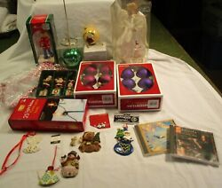 HUGE MIXED LOT Christmas Decorations Bulbs Tinsel Mr Mrs Claus Ornaments gt; SALE $8.00