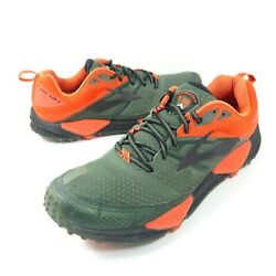 Brooks Cascadia 12 Men#x27;s Trail Running Shoes Green Orange Size 11.5 B Medium $27.99