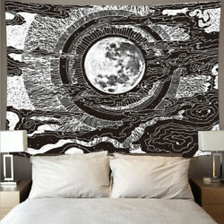 Abstract Moon Tapestry Hippie Bohemian For Wall Hanging Living Room Home Decor $14.99