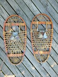 Vintage Bear Paw Snow Shoes LUND Military Snowshoes WW2 Hastings Minnesota 1944 $175.00