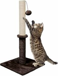 Dimaka 29quot; Tall Cat Scratching Sisal Post with 14quot; Squre Base and Hanging Ball $18.99