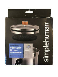 Simple Human Odorsorb Filters for the compost pail KT1135 New 2 Pack $19.90